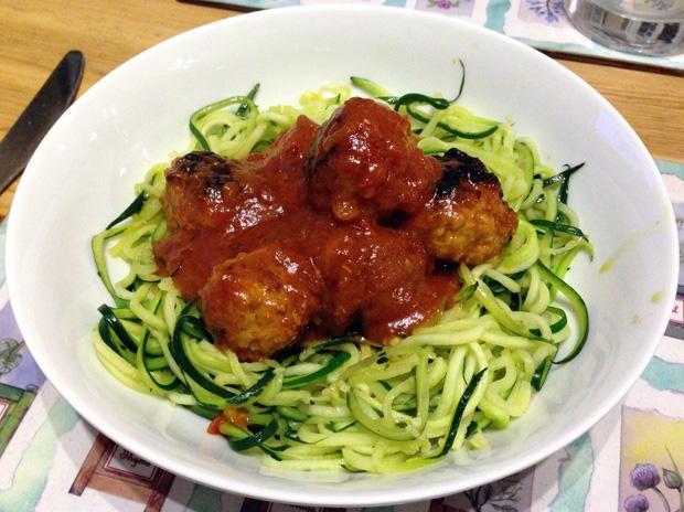 Courgette Spaghetti - Courgetti / Zoodles