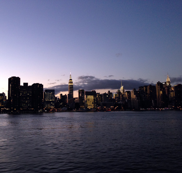 Manhatten at Night from the Water