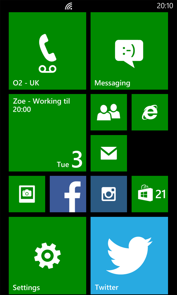 Nokia Lumia 925 Home Screen