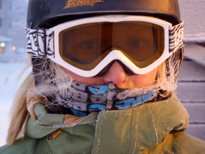 Winter Holiday in Ruka, Finland - Frozen Hair