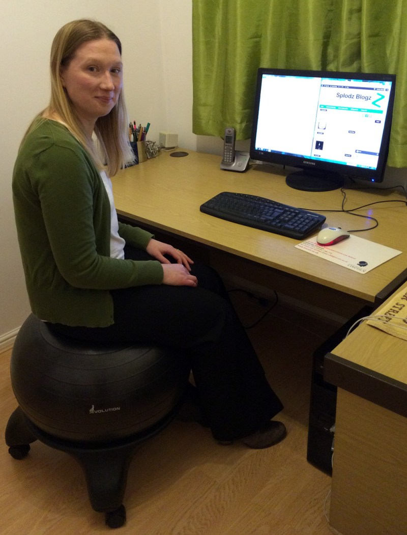Me Sitting on the Evolution Chair