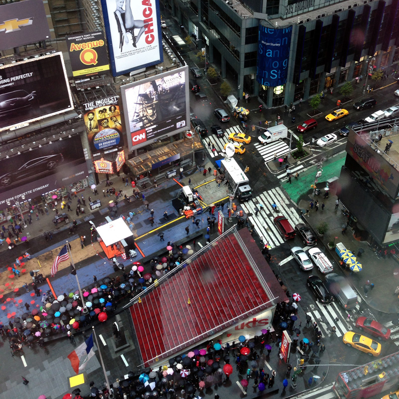 View of Times Square from the Hotel
