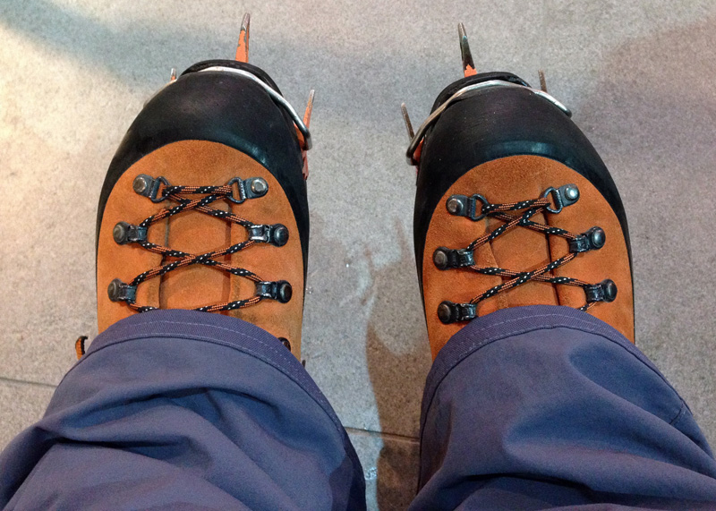 Kitted out for Ice Climbing - Boots and Crampons
