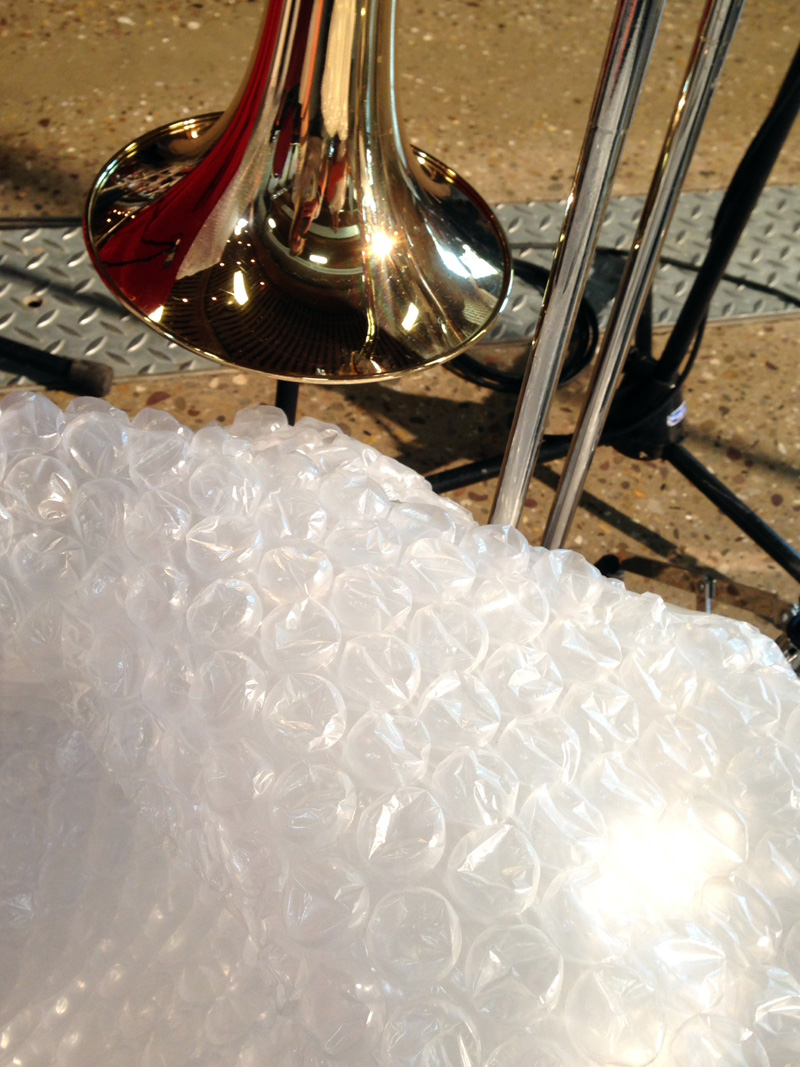 03 May - Trombone and Bubble Wrap