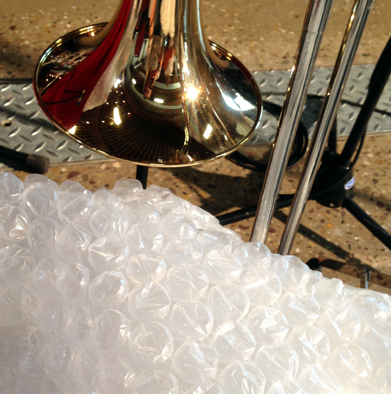 Trombone and Bubble Wrap