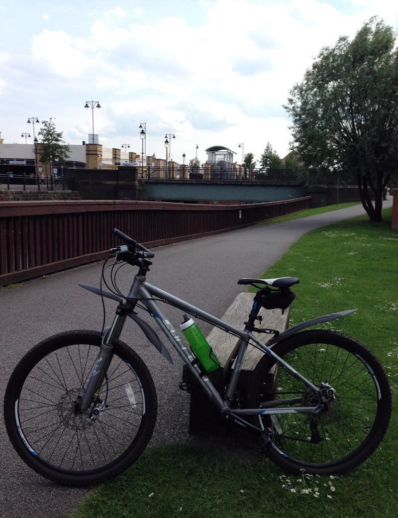 New SIGG Viva in Green on my Bike in Lincoln