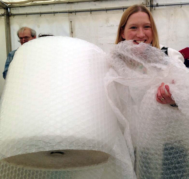 Me with my Bubble Wrap