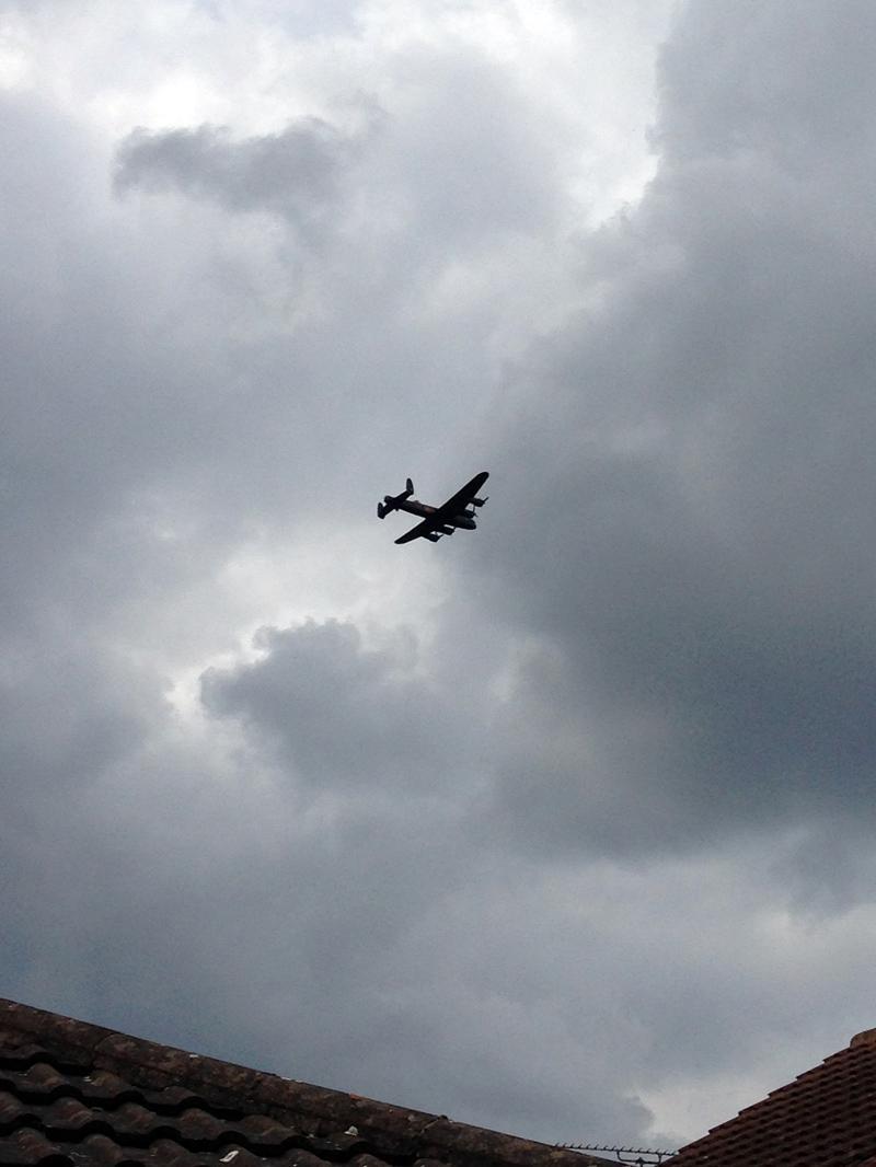 6 July - Lancaster Bomber flying over our garden