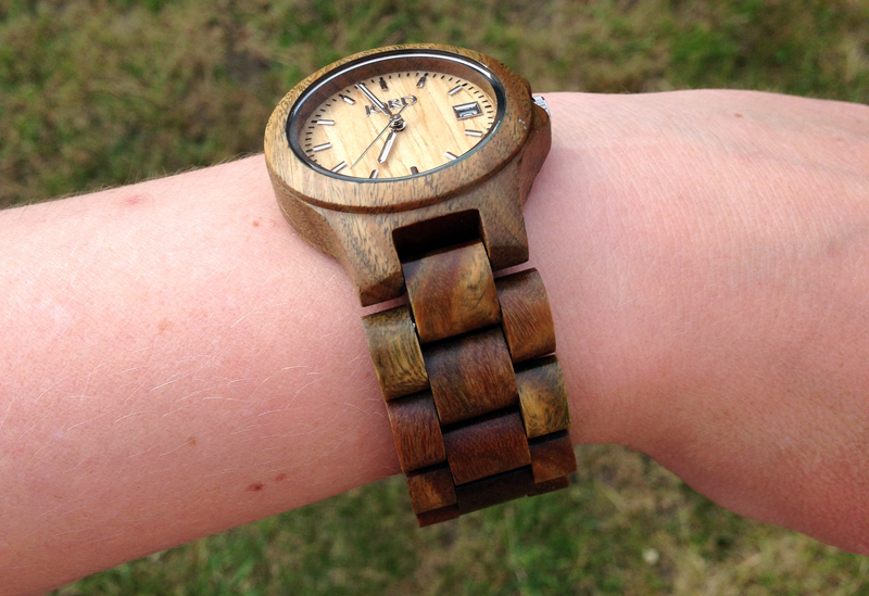 Ely Series Wood Watch by JORD in National Green and Maple