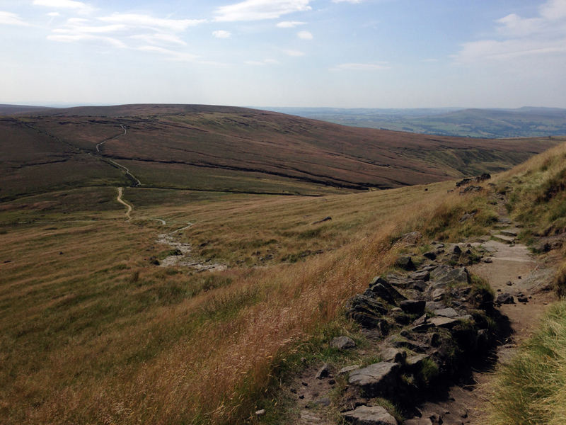 Hiking up Kinder Scout