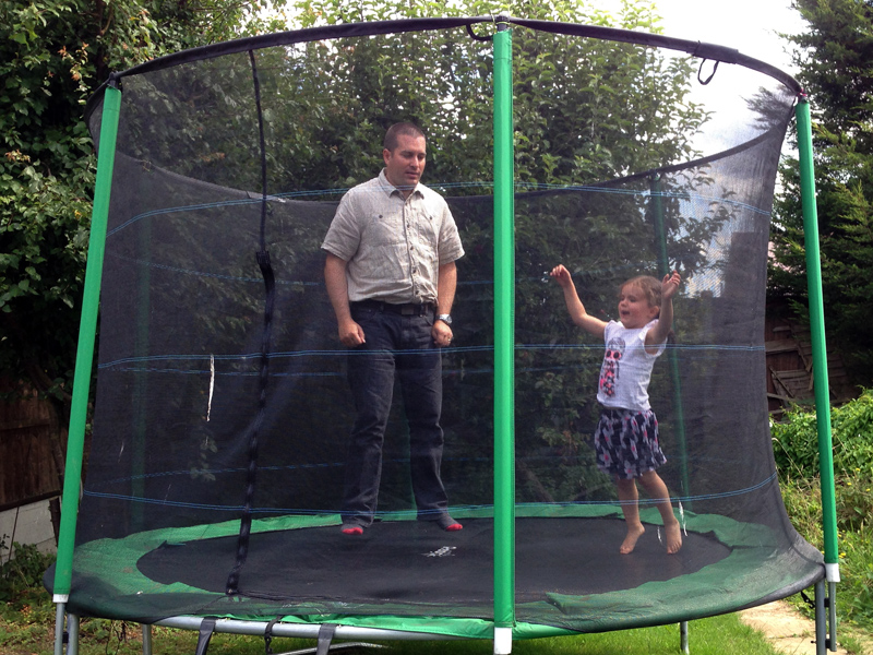 03 August - Bouncing on the trampoline