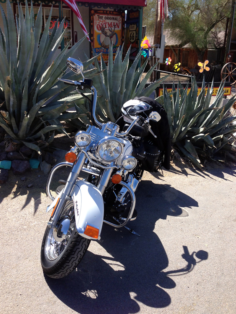 Heritage Softail at Oatman