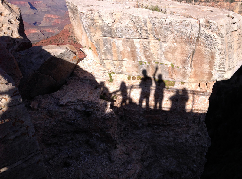 Our shadows at The Grand Canyon