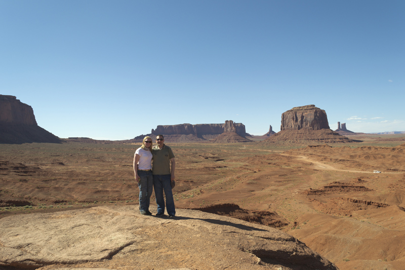 Us at Monument Valley
