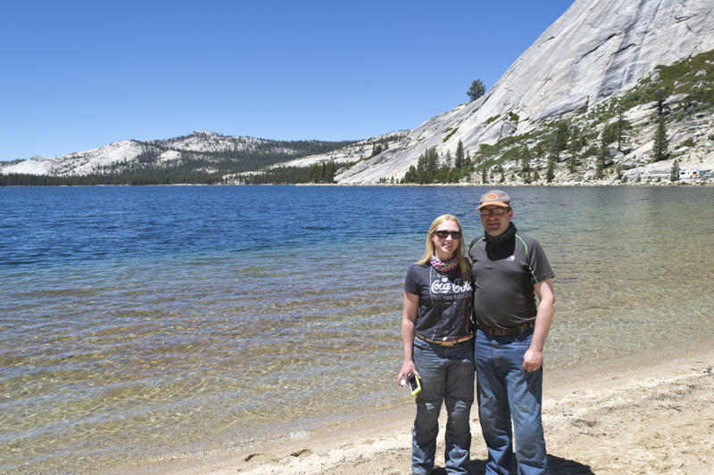 Us at Tenaya Lake, Yosemite National Park