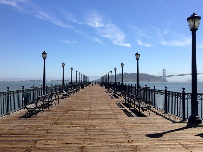 Pier into San Francisco Bay