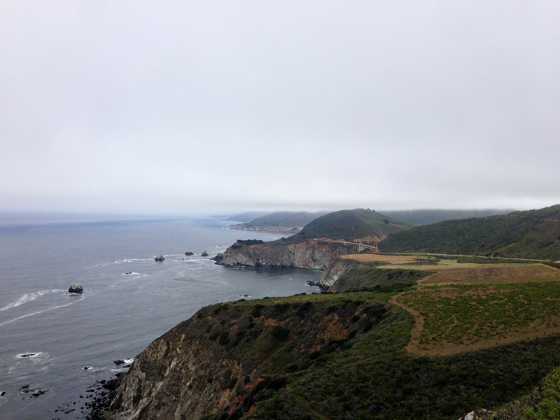Overlooking the Pacific Ocean and the Pacific Coast Highway