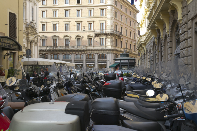 Scooters in Rome