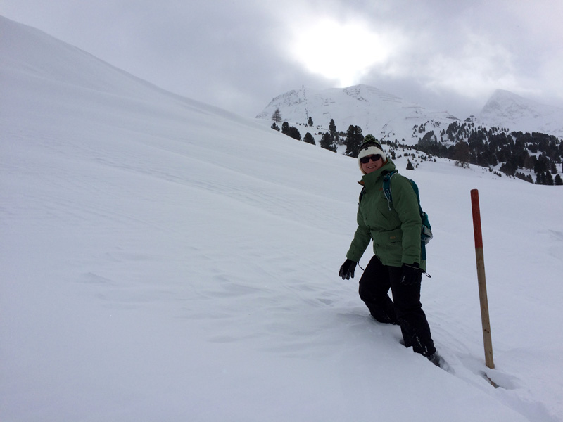 Winter Hike in Obergurgl - Me Breaking Trail