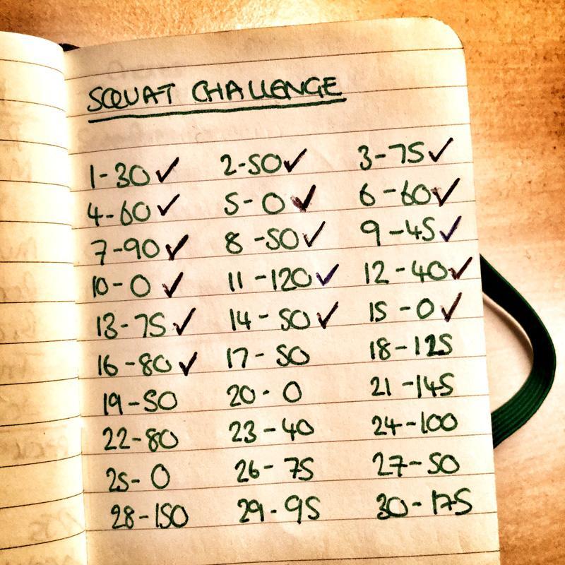 30 Day Squat Challenge Tick