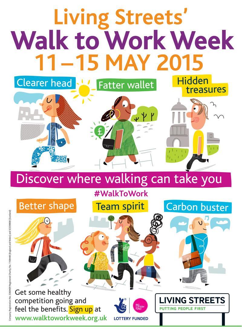 Walk to Work Week 2015 Poster - Living Streets