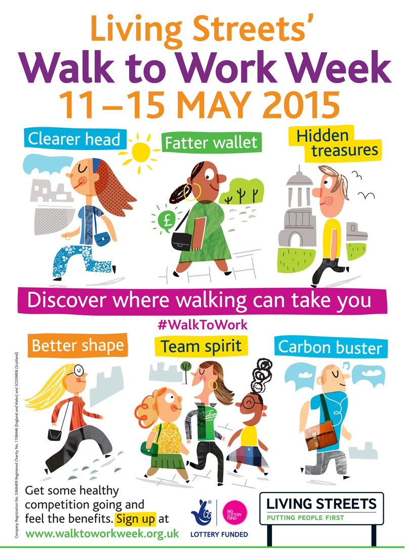 Walk to Work Week 2015 Poster - Living Streets