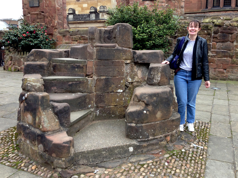 Coventry - Cathedral - Meeting Jo Cross at Always Think You Can