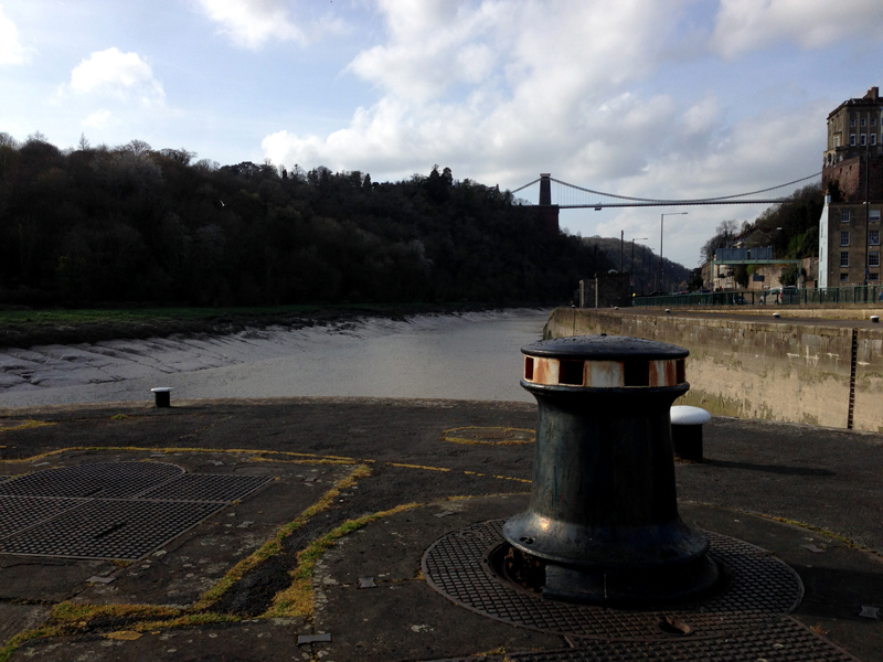Exploring Bristol - Clifton Suspension Bridge from the River Avon