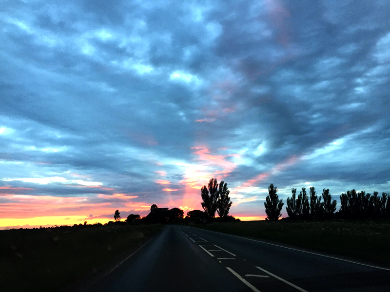 30DaysWild - Sunset over Lincolnshire