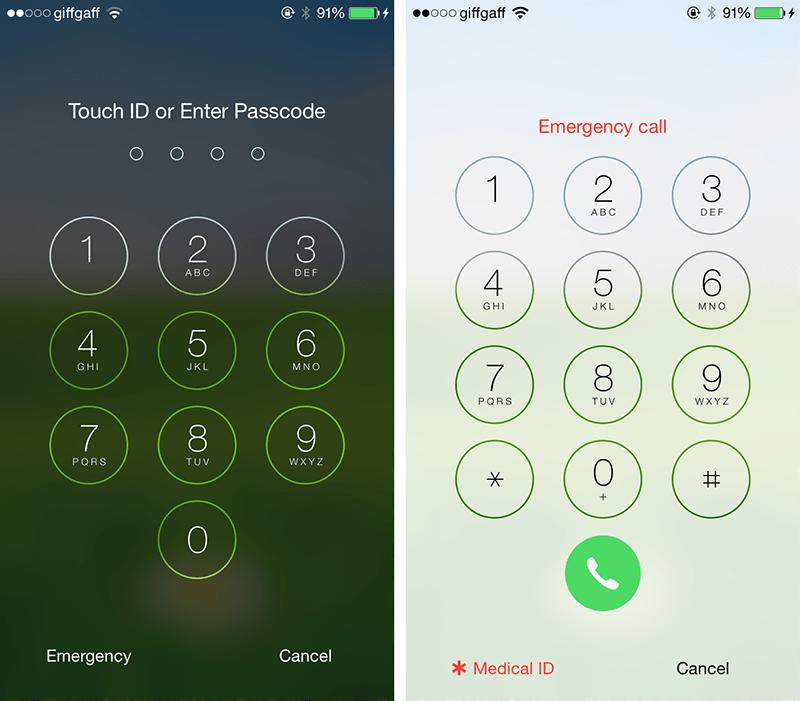 Medical ID iPhone