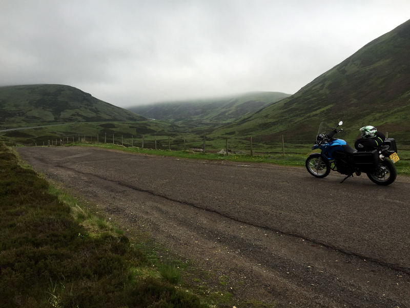 Scotland by Motorbike - Road over Glenshee