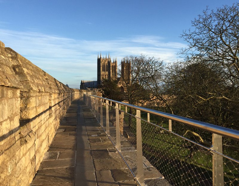 Lincoln Cathedral from Lincoln Castle Wall Walk