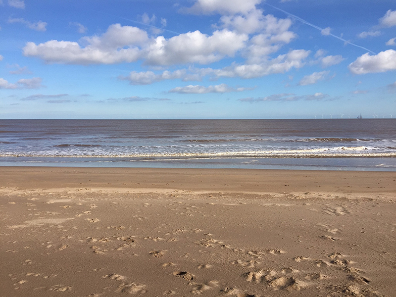 The Beach and Sea at Chapel Six Marshes, Lincolnshire