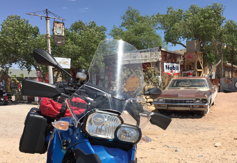 Zartusacan - My Bike at Hackberry General Store, Route 66