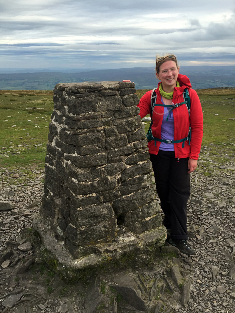 Last peak done! At the Ingleborough summit.