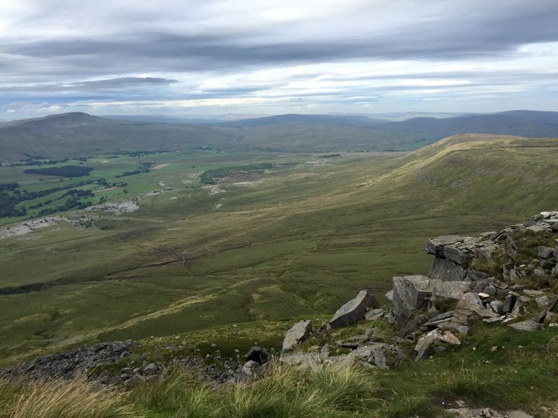 Yorkshire 3 Peaks - Looking back from the top of Ingleborough