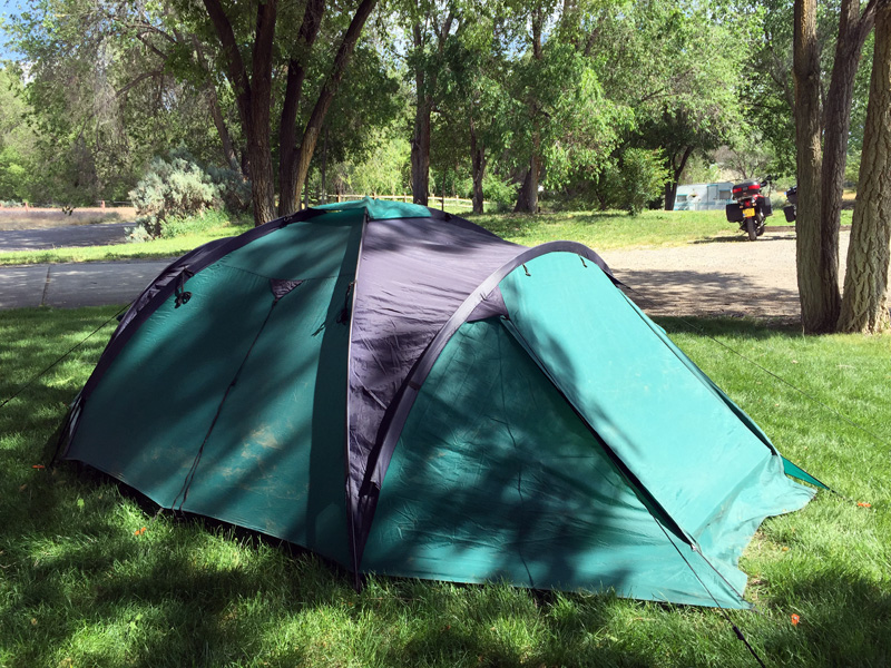 Camping in Montrose, Colorado.
