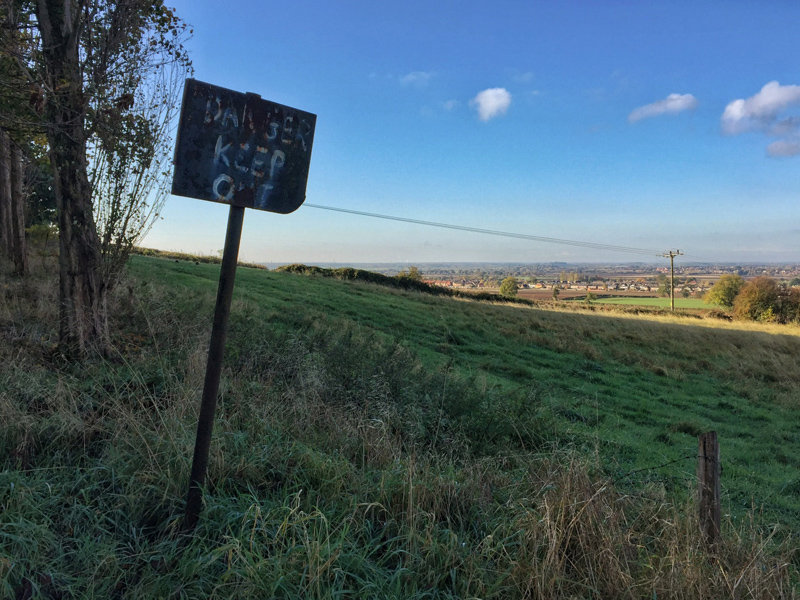 Danger Keep Out Sign, Lincolnshire