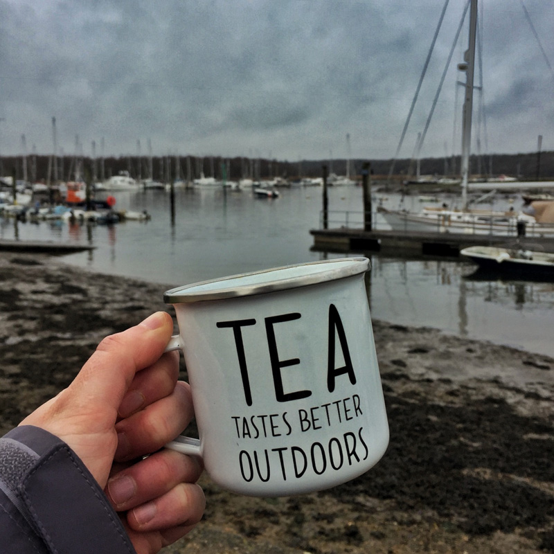 Drinking tea at Buckler's Hard, Splodz Blogz