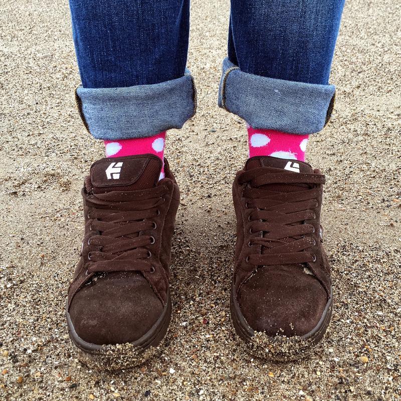 Bryt Socks and Skate Shoes on Blackpool Beach