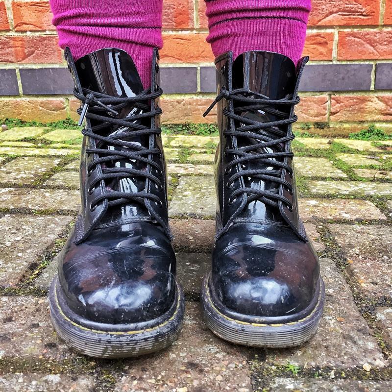Hiking Socks and Dr Martens.