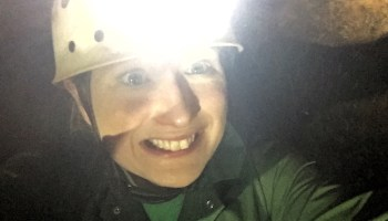Caving at Clearwell Caves.