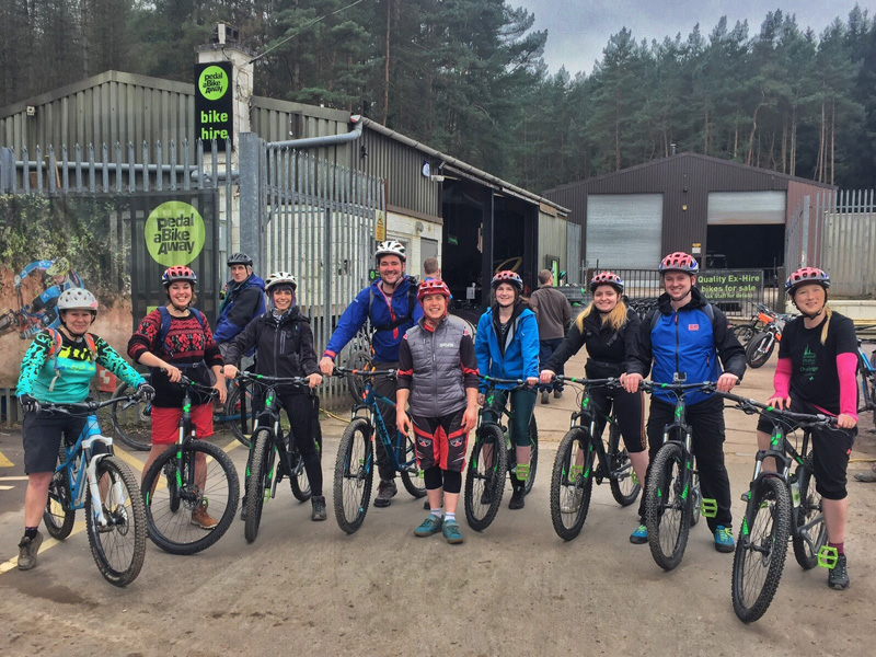 Mountain Biking with Pedal a Bike Away