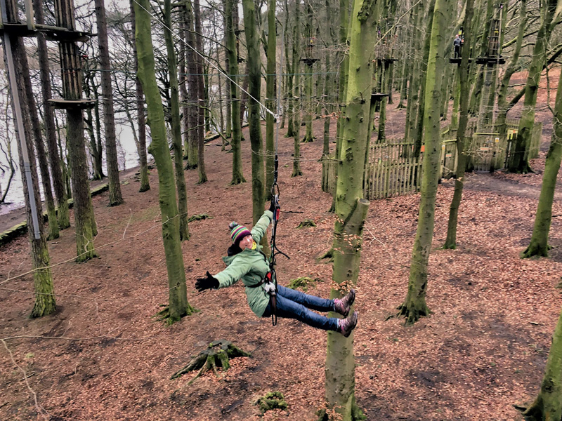 TREE TOP ADVENTURE AT GO APE RIVINGTON