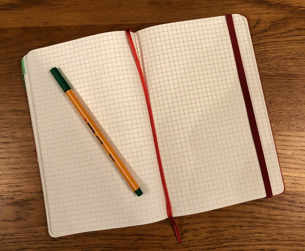 Splodz Blogz | Moleskine Squared Notebook Journal