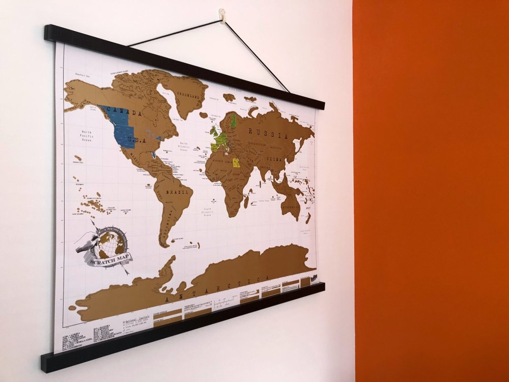 Splodz Blogz | Scratch Map Hanger