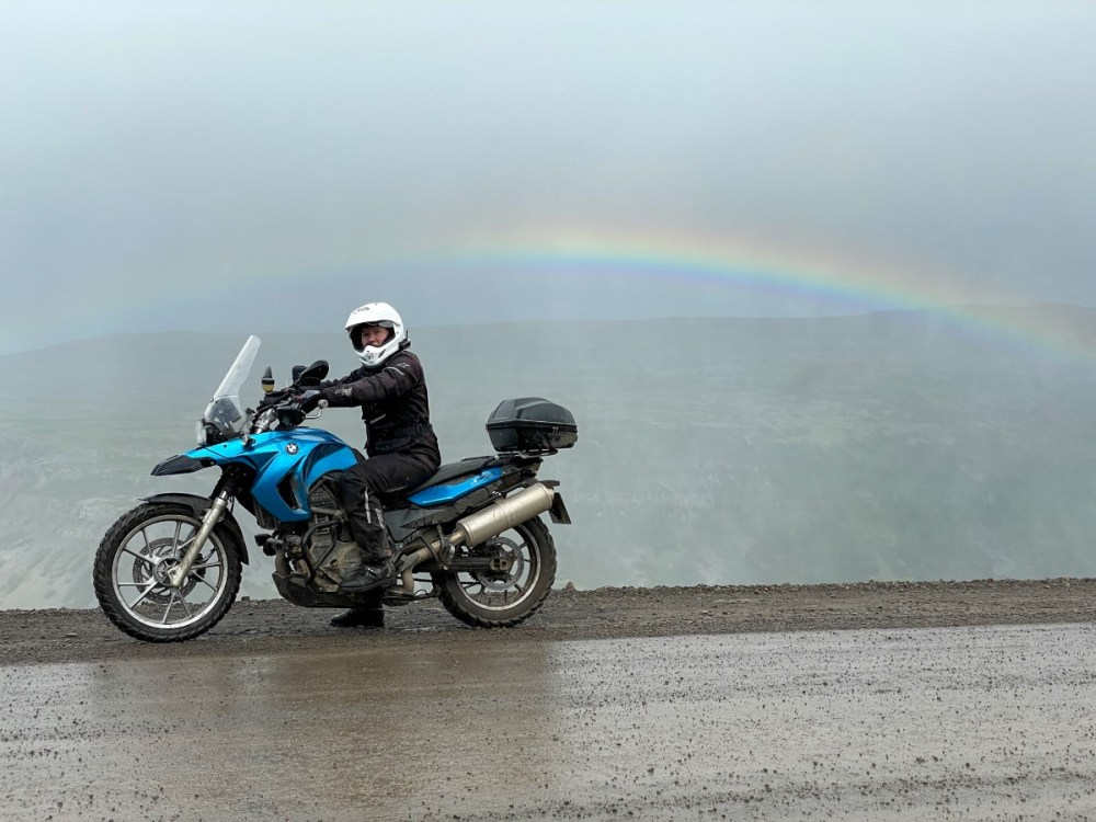 Splodz Blogz   F650GS and a Rainbow in Iceland's Westfjords