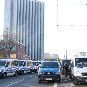 Das Polizeiaufgebot in Chemnitz war enorm.