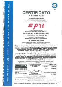 сертификат оборудования UNI EN ISO 14001