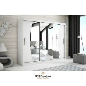 WAVE 250 cm - Wave White frame with white front